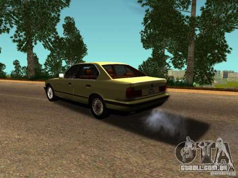 BMW 535 para GTA San Andreas traseira esquerda vista