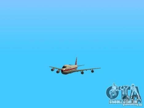 Boeing 747-100 para vista lateral GTA San Andreas