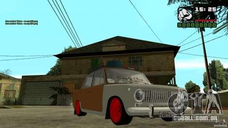 Lada 2101 OnlyDropped para GTA San Andreas vista traseira