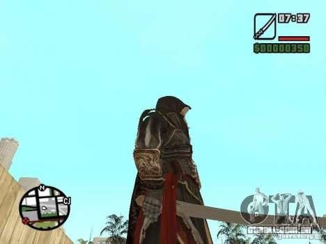 Espada Ezio para GTA San Andreas terceira tela