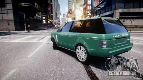 Range Rover Vogue para GTA 4 traseira esquerda vista