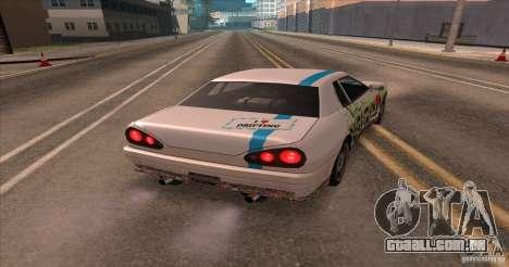 Paintjob for Elegy para GTA San Andreas traseira esquerda vista