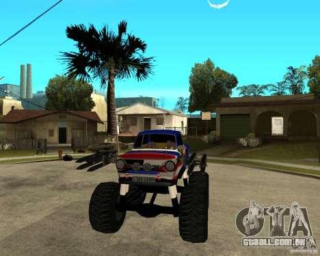 MONSTRO DE ZAZ para GTA San Andreas vista traseira