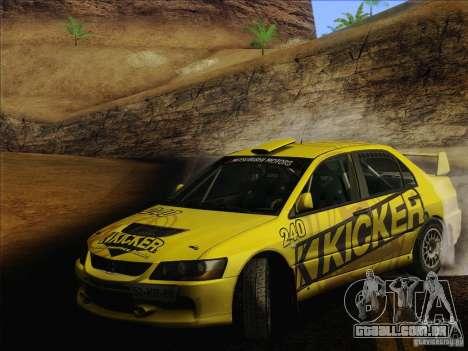 Mitsubishi Lancer Evolution IX Rally para as rodas de GTA San Andreas