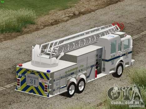 Pierce Puc Aerials. Bone County Fire & Ladder 79 para as rodas de GTA San Andreas