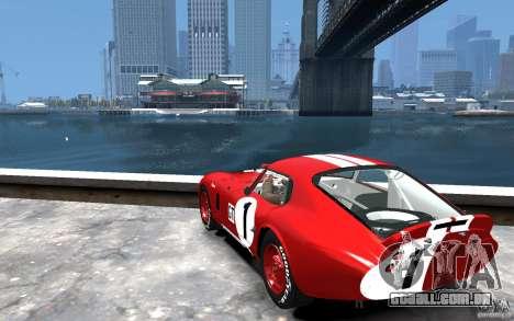 Shelby Cobra Daytona Coupe 1965 para GTA 4 traseira esquerda vista