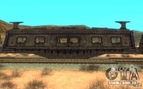 Um trem do jogo Aliens vs Predator v1 para GTA San Andreas traseira esquerda vista