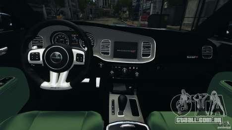 Dodge Charger SRT8 2012 v2.0 para GTA 4 vista de volta