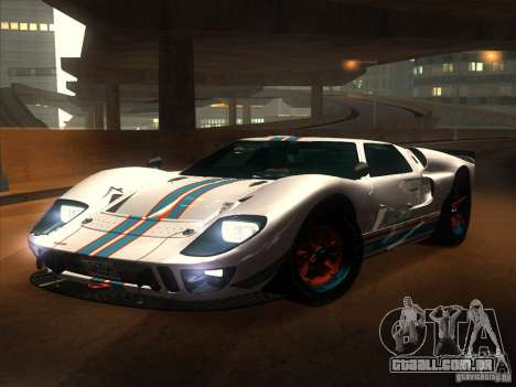 Ford GT40 1966 para vista lateral GTA San Andreas