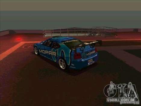 Mopar Dodge Charger para GTA San Andreas traseira esquerda vista