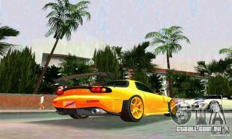 Mazda RX7 RE-Amemiya para GTA Vice City vista direita