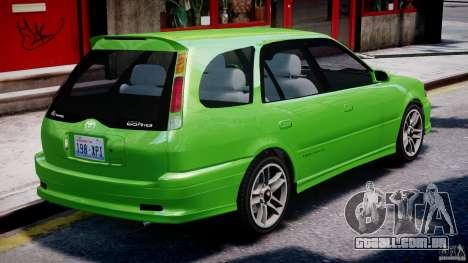 Toyota Sprinter Carib BZ-Touring 1999 [Beta] para GTA 4 interior