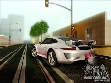 Porsche 911 Carrera S (991) Snowflake 2.0 para GTA San Andreas traseira esquerda vista