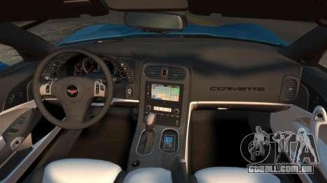 Chevrolet Corvette C6 2010 Convertible v2.0 para GTA 4