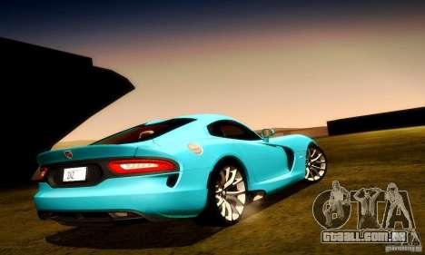 Dodge Viper SRT  GTS para as rodas de GTA San Andreas