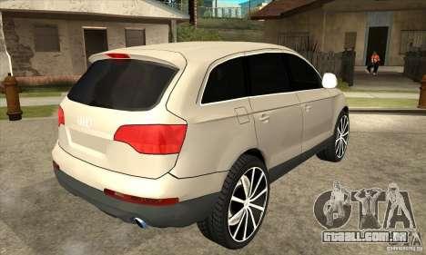 Audi Q7 v2.0 para GTA San Andreas vista direita