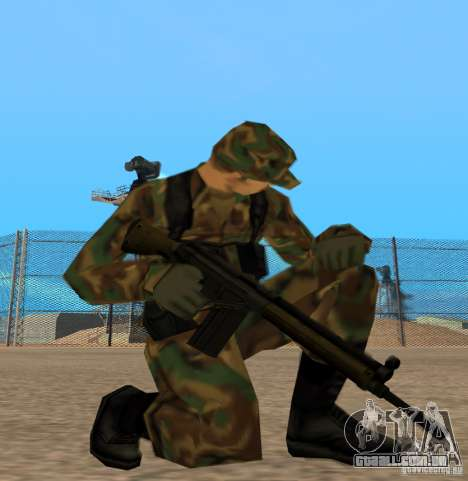 G3A3 Rifle de assalto para GTA San Andreas terceira tela