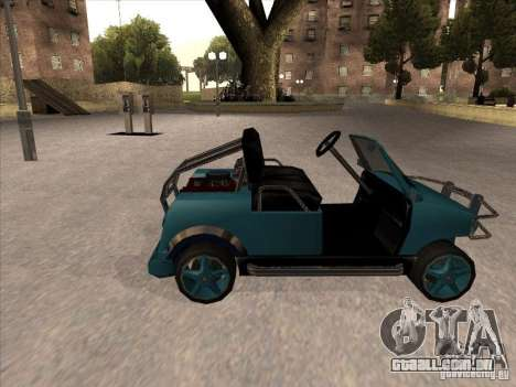 Small Cabrio para GTA San Andreas esquerda vista
