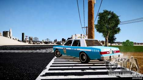 Dodge Diplomat 1983 Police v1.0 para GTA 4 vista direita