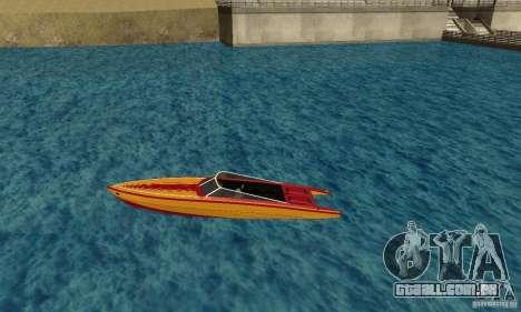 GTAIV Jetmax para GTA San Andreas esquerda vista