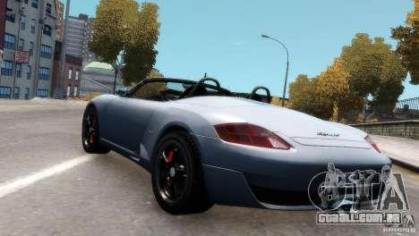 RUF RK Spyder 2006 [EPM] para GTA 4 vista de volta