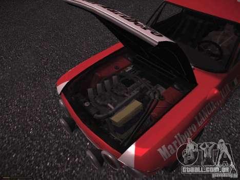 Lancia Fulvia Rally Marlboro para GTA San Andreas vista superior