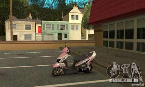 Honda Vario-Velg Racing para GTA San Andreas vista traseira
