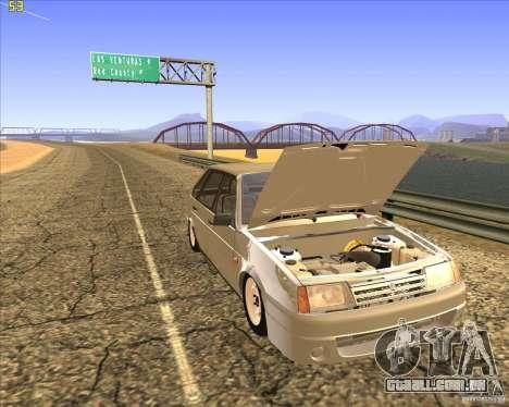 VAZ 2109 Tuning para vista lateral GTA San Andreas