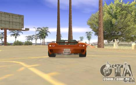 Veloche carro para GTA San Andreas vista interior