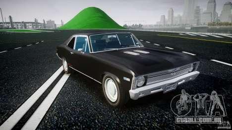 Chevrolet Nova 1969 para GTA 4 vista de volta