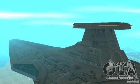 Republic Attack Cruiser Venator class v2 para GTA San Andreas esquerda vista
