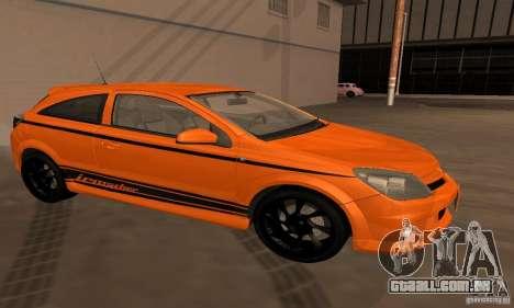 Opel Astra GTS para vista lateral GTA San Andreas