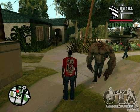 Tanque do Left 4 Dead. para GTA San Andreas por diante tela