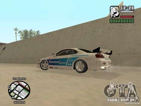 Nissan Silvia S15 Drift para GTA San Andreas esquerda vista