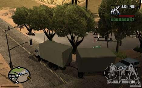 Painel ativo 3.1 para GTA San Andreas por diante tela