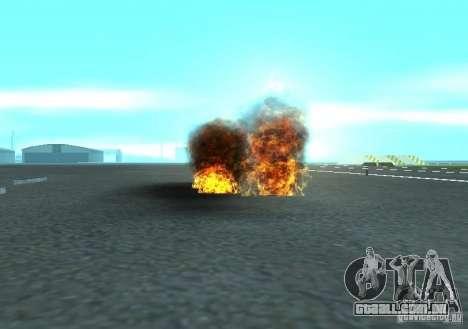 Novos efeitos de explosões para GTA San Andreas quinto tela