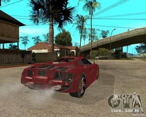 B-Engineering Edonis para GTA San Andreas traseira esquerda vista