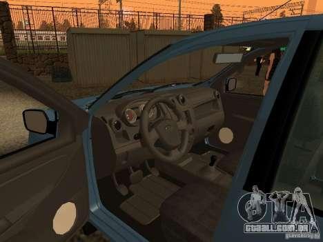 VAZ 2190 para GTA San Andreas vista traseira