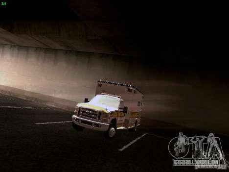 Ford F-350 Ambulance para GTA San Andreas vista traseira