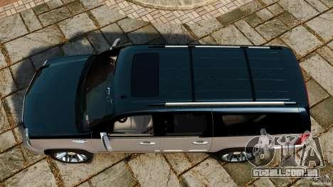 Cadillac Escalade ESV 2012 para GTA 4 vista direita