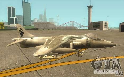 Harrier GR7 para GTA San Andreas traseira esquerda vista