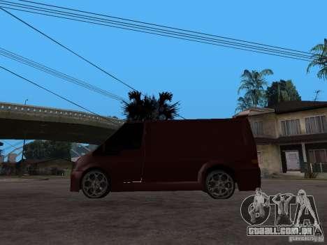 Ford Transit Tuning para GTA San Andreas esquerda vista