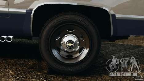 Chevrolet Silverado 1986 para GTA 4 vista superior