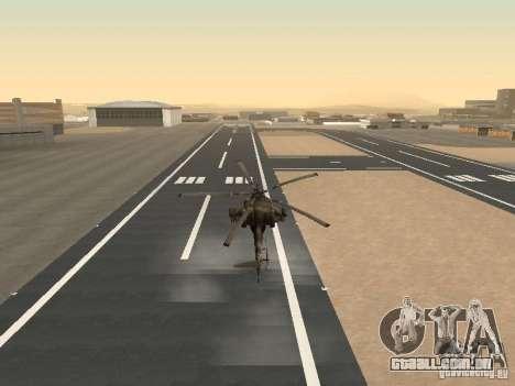 Mi-28 para vista lateral GTA San Andreas