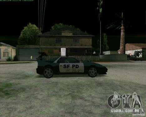 Supergt - Police S para GTA San Andreas traseira esquerda vista