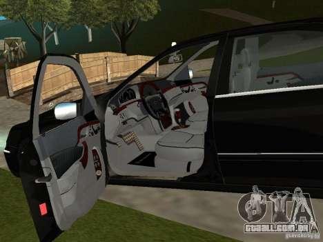 Mercedes-Benz S600 Biturbo 2003 v2 para GTA San Andreas vista traseira