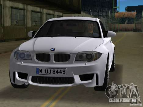BMW 1M Coupe RHD para GTA Vice City deixou vista