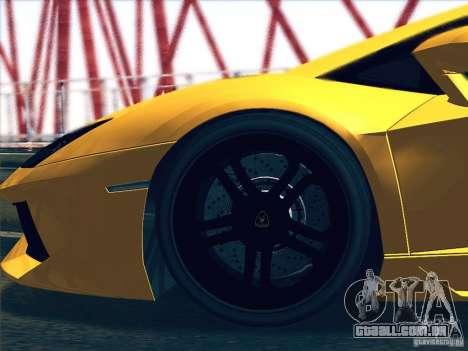 Lamborghini Aventador LP700-4 2011 V1.0 para GTA San Andreas vista traseira