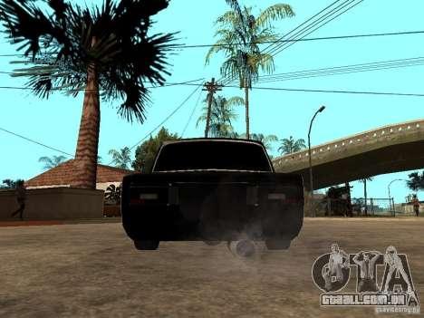 VAZ 2106 Tuning luz para GTA San Andreas traseira esquerda vista