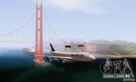 Boeing 747-8F para GTA San Andreas traseira esquerda vista